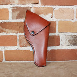 Leather Revolver Holster W/Flap-Atomic 79