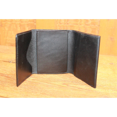 Leather Trifold in Black-Atomic 79