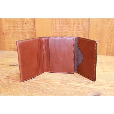Leather Trifold in Chestnut-Atomic 79