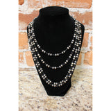 Long Beaded Heavy Sterling Silver Necklace-Atomic 79