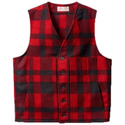 Mackinaw Wool Vest in Red and Black Plaid-Atomic 79