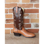 "Men' 13"" Leather Boot W/Chocolate Top and Walnut Spanish Shoulder Foot-Atomic 79"