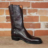 "Men's 10"" Calf Leather Boot in Black Cherry-Atomic 79"