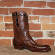 "Men's 10"" Classic Florence Buffalo Leather Boot in Burnished Whiskey-Atomic 79"