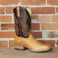 "Men's 11"" Leather Boot W/Chocolate Volcano Top and Honey Bi-Pull Foot-Atomic 79"