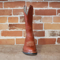 "Men's 12"" Classic Leather Western Boot W/V Bar Rubber Comp Sole-Atomic 79"