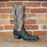 "Men's 13"" Black Giant American Alligator Boot W/Distressed Finish-Atomic 79"