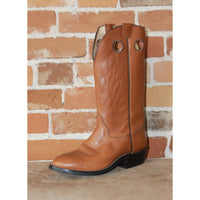 "Men's 13"" Brown Mule Leather Boot W/Rubber Oil-Resistant Sole-Atomic 79"