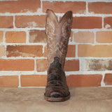 "Men's 13"" Giant American Alligator Boot W/a Chocolate Distressed Finish-Atomic 79"