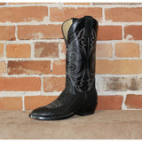 "Men's 13"" Leather Boot W/Black Top and Black Bullhide Foot-Atomic 79"