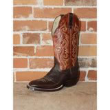 "Men's 13"" Leather Boot W/Brown Cowhide Vamp and Spanish Rust Top-Atomic 79"