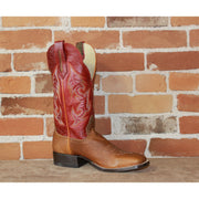 "Men's 13"" Leather Boot W/Buffalo Tan Vamp And Red Volcano Top-Atomic 79"