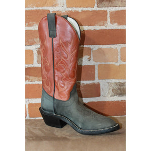 "Men's 13"" Leather Boot W/Crazyhorse Vamp and Copper Top-Atomic 79"