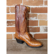 "Men's 13"" Leather Boot W/Full Quill Ostrich in Tan-Atomic 79"