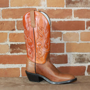 "Men's 13"" Leather Boot W/Pecan Tempest Vamp and Tangerine Hot Dog Top-Atomic 79"