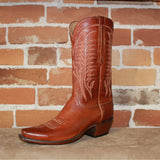 "Men's 13"" Leather Calf Boot in Burnished Cognac-Atomic 79"