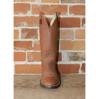 "Men's 13"" Leather Western Work Boot W/Rubber Outsole-Atomic 79"