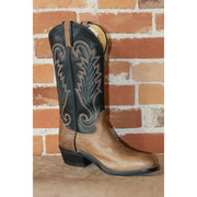 "Men's 13"" Oily Taurus Leather Boot W/brown Vamp-Atomic 79"