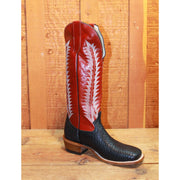 "Men's 16"" Leather Boot W/Black Vamp and Red Top-Atomic 79"