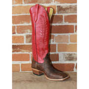 "Men's 16"" Leather Boot W/Brown Vamp and Red Upper-Atomic 79"