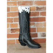"Men's 16"" Leather Boot W/Stovepipe Top and White Collar-Atomic 79"