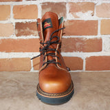 "Men's 8"" Lace-Up Boot W/Padded Top in Tobacco Oil-Tanned Leather-Atomic 79"
