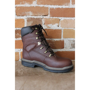 "Men's 8"" Leather Work Boot In Brown Wpf W/contour Welt-Atomic 79"