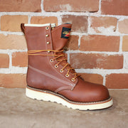 "Men's 8"" WaterProof/Insulated Lace-Up Boot in Oil Tanned Tobacco Leather-Atomic 79"
