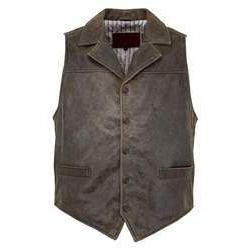 Men's Chief Vest in Brown Leather-Atomic 79