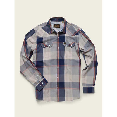 Men's Crosscut Erhardt Plaid W/Pearl Snaps in Old Blue-Atomic 79