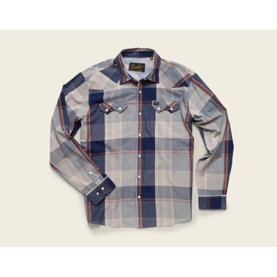 Men's Crosscut Erhardt Plaid W/Pearl Snaps in Wrangler Brown-Atomic 79
