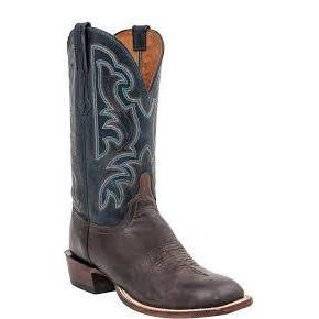 Men's Heriloom Antiqued Pearwood & Garganey Blue Goat Boots-Atomic 79