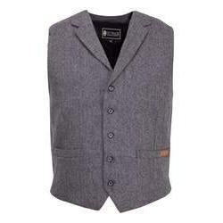 Men's Jessie Dress Vest in Charcoal Herringbone-Atomic 79