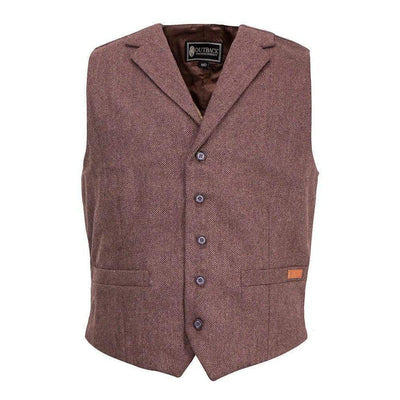 Men's Jessie Dress Vest in Walnut Herringbone-Atomic 79