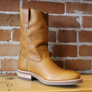 "Men's Lettuce Picker ""UPTOWN""- 9"" top, Tan Cowhide Top & Vamp, CORK/Rubber Sole-Atomic 79"