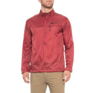 Men's Light Weight Wind Resistent Static Peak Pullover in Rojo-Atomic 79