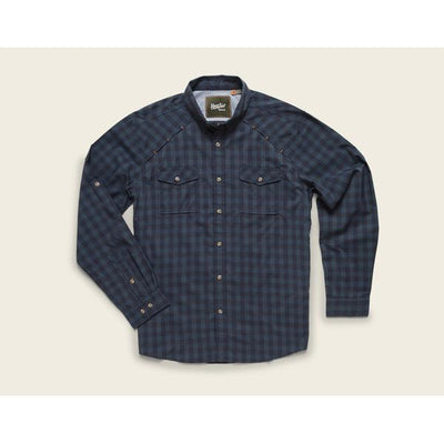 Men's Long Sleeve Firstlight Tech Shirt W/Holden Plaid in Tonoche Navy-Atomic 79