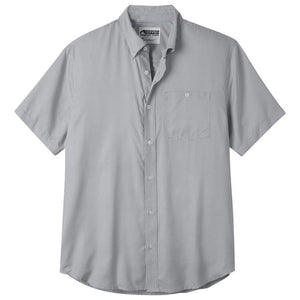 Men's Passport Easy Care Short Sleeve Shirt in Smoke-Atomic 79