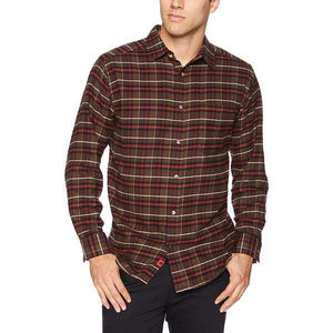 Men's Peden Plaid Relaxed Fit Shirt in Coffee-Atomic 79