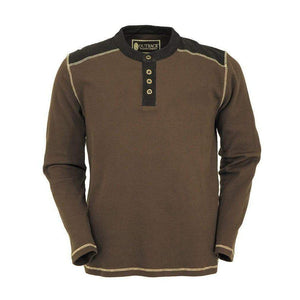 Men's Pike Thermal Henley in Brown-Atomic 79