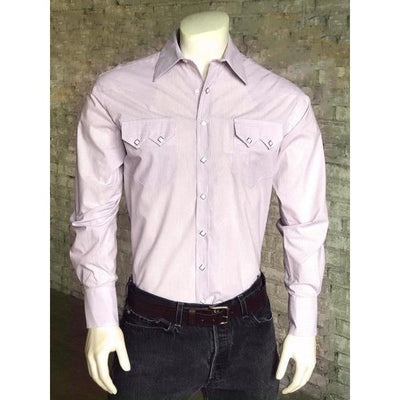 Men's Pima Cotton Pinstripe Long Sleeve Dress Shirt-Atomic 79