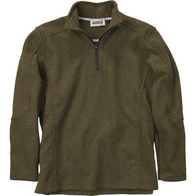 Men's Quarter Zip Wool Over in Olive-Atomic 79