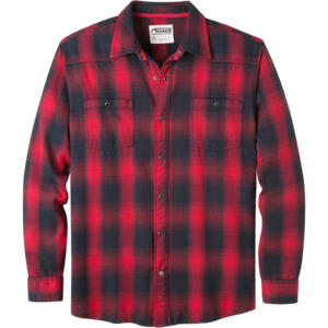 Men's Saloon Long Sleeve Flannel Shirt in Cardinal-Atomic 79