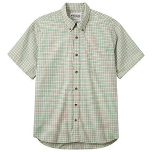 Men's Spalding Gingham Long Sleeve Shirt in Putty-Atomic 79