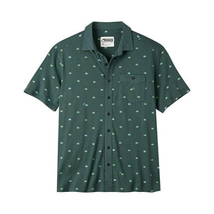 Men's Tatanka Short Sleeve Shirt in Deep Sea Print-Atomic 79