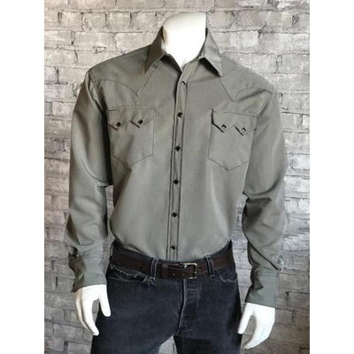 Men's Tencel Western Shirt in Sage-Atomic 79