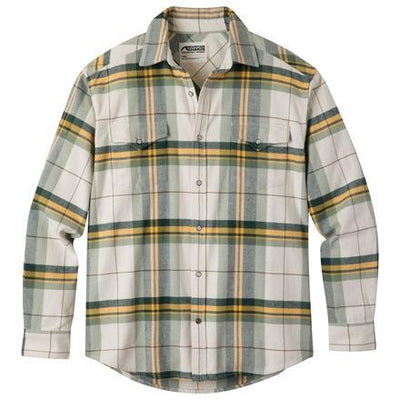 Men's Teton Flannel Shirt in Cream-Atomic 79