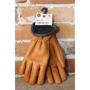 Merino Wool Lined Deerskin Work Gloves In Saddle Brown-Atomic 79