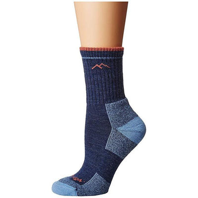 Merino Wool Micro Crew Sock With Cushion In Denim-Atomic 79