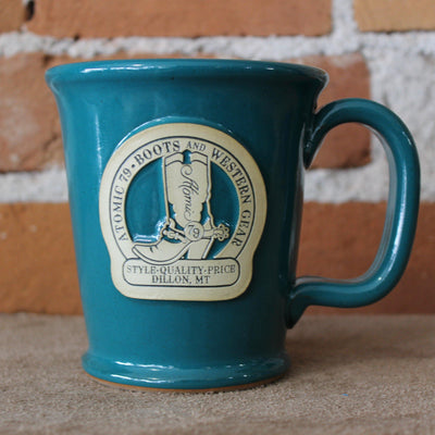 Morning Rambler Mug W/Teal Magnolia Glaze And Atomic 79 Logo-Atomic 79